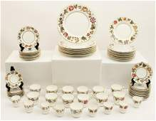 78 PC. ENGLISH ROYAL WORCESTER DINNER SERVICE