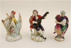 GROUP OF 3 SAXONY PORCELAIN FIGURINES
