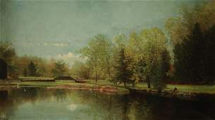 N.a. Moore; 19th c. O/c New England l/scape ptg