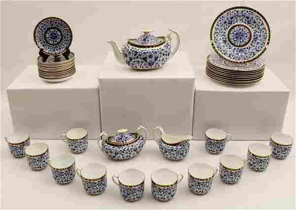 37 pc Royal Crown Derby porcelain tea service