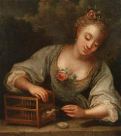 18TH C. OIL ON CANVAS,  FOLLOWER OF JEAN RAOUX (FRENCH,