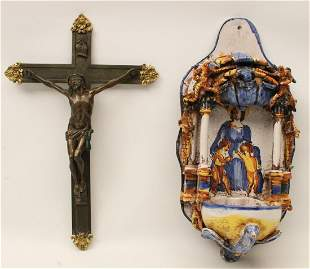 2 PC. MISC. LOT OF RELIGIOUS ITEMS