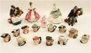 MISC. 17 PC. LOT OF ROYAL DOULTON