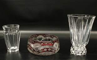 3 PC. MISC. LOT OF FRENCH CUT CRYSTAL INCL. BACCARAT