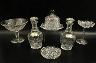 6 PC. LOT OF CUT GLASS INCLUDING WATERFORD