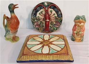 4 PC. LOT OF GLAZED FRENCH FAIENCE WARE