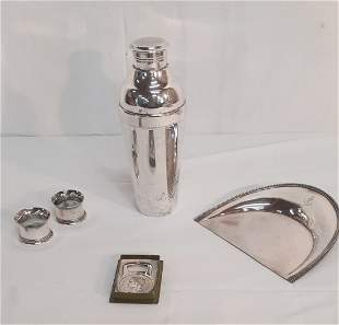 5 PC. LOT OF FRENCH CHRISTOFLE SILVER TABLE