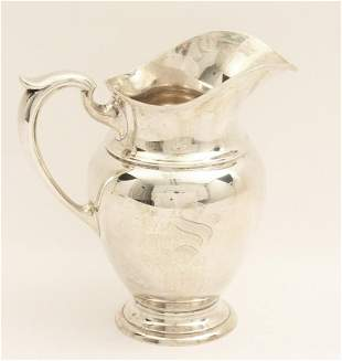 "28.25 TOW; 10"" STERLING SILVER WATER PITCHER"