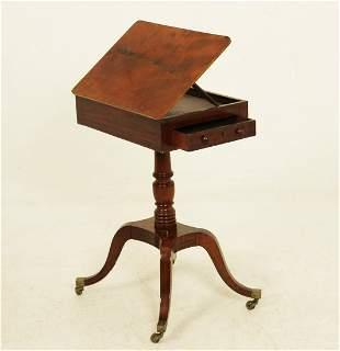 PERIOD ENGLISH REGENCY MAHOGANY ARCHITECT TABLE