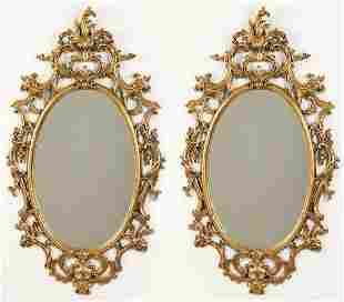 PR. OF CHIPPENDALE ROCCOCO STYLE GOLD LEAF MIRROR