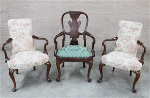 3 PC. MISC. LOT OF ENGLISH STYLE SEATING FURNITURE