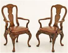 PR. OF ENGLISH QUEEN STYLE ARM CHAIRS
