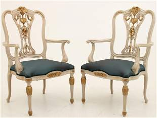 PR. OF LARGE REGENCY STYLE ARM CHAIRS