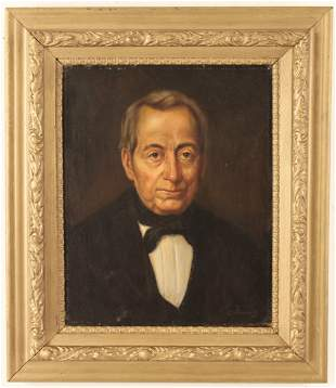 O/C PORTRAIT SIGNED PUNDSACK, LATE 19TH C.