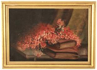 19TH C. O/C STILLIFE PAINTING, SIGNED