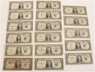 17 AMERICAN ONE DOLLAR SILVER CERTIFICATES