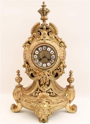 FRENCH GILT BRONZE CLOCK