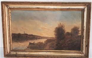 J.H.DELPHY (1877-1957); OIL ON BOARD LANDSCAPE PAINTING