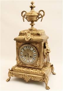 19TH C. FRENCH GILT BRONZE BRACKET CLOCK
