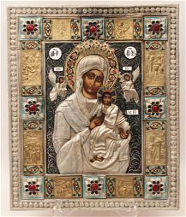 RUSSIAN ICON WITH MOTHER AND CHILD