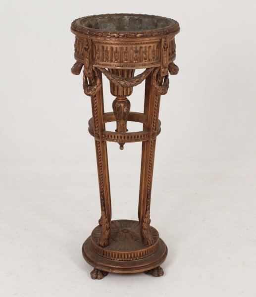 19TH C. FRENCH CARVED GILTWOOD PLANTER