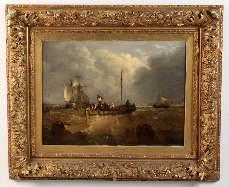 G.C. STANFIELD, FINE 19TH C. OIL ON CANVAS PAINTING