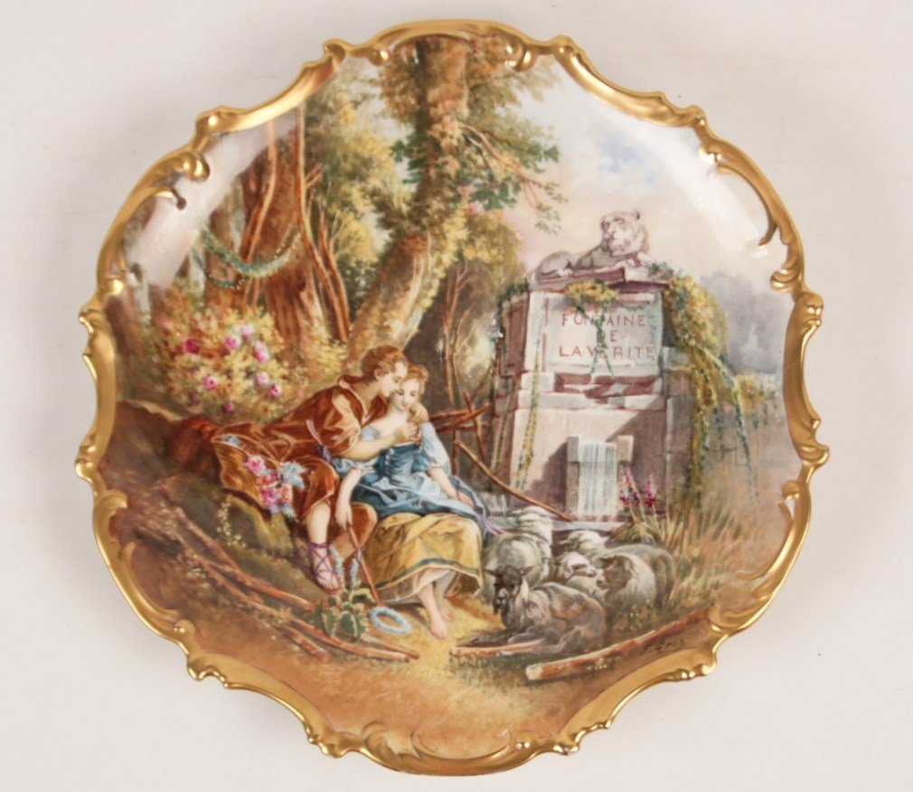 """FINE QUALITY 16"""" HAND PAINTED FRENCH LIMOGES CHARGER"""