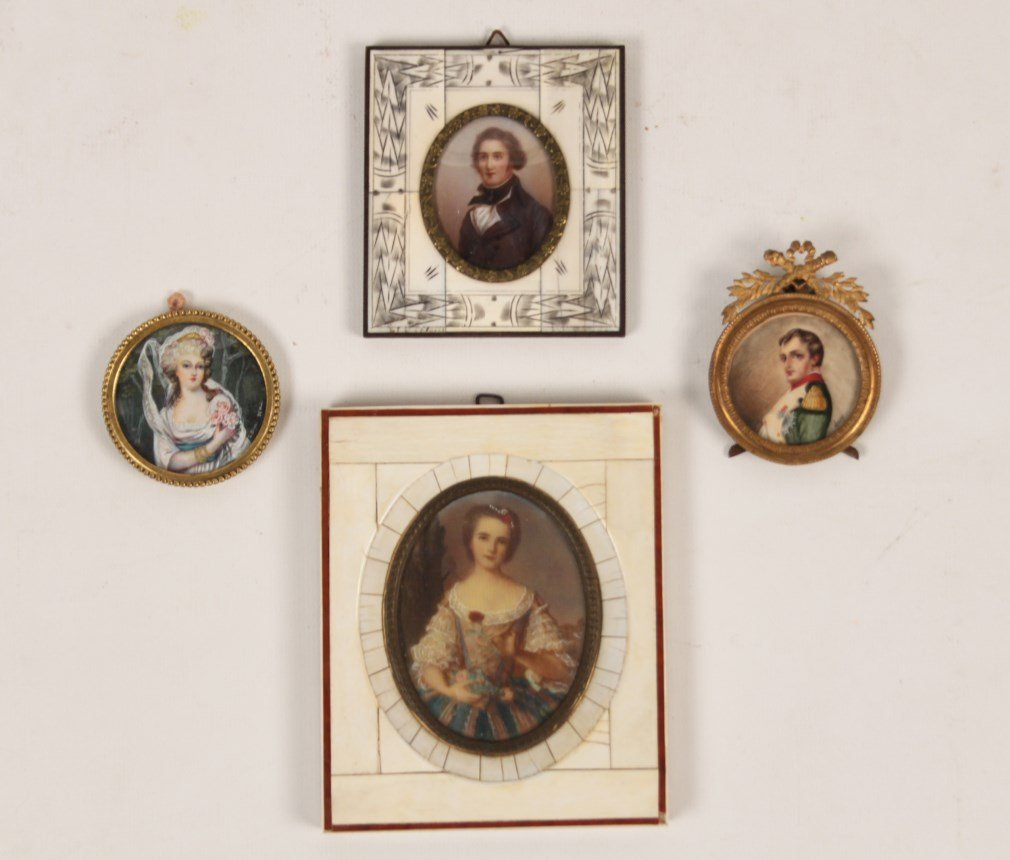 GROUP OF 4 HAND PAINTED MINIATURES