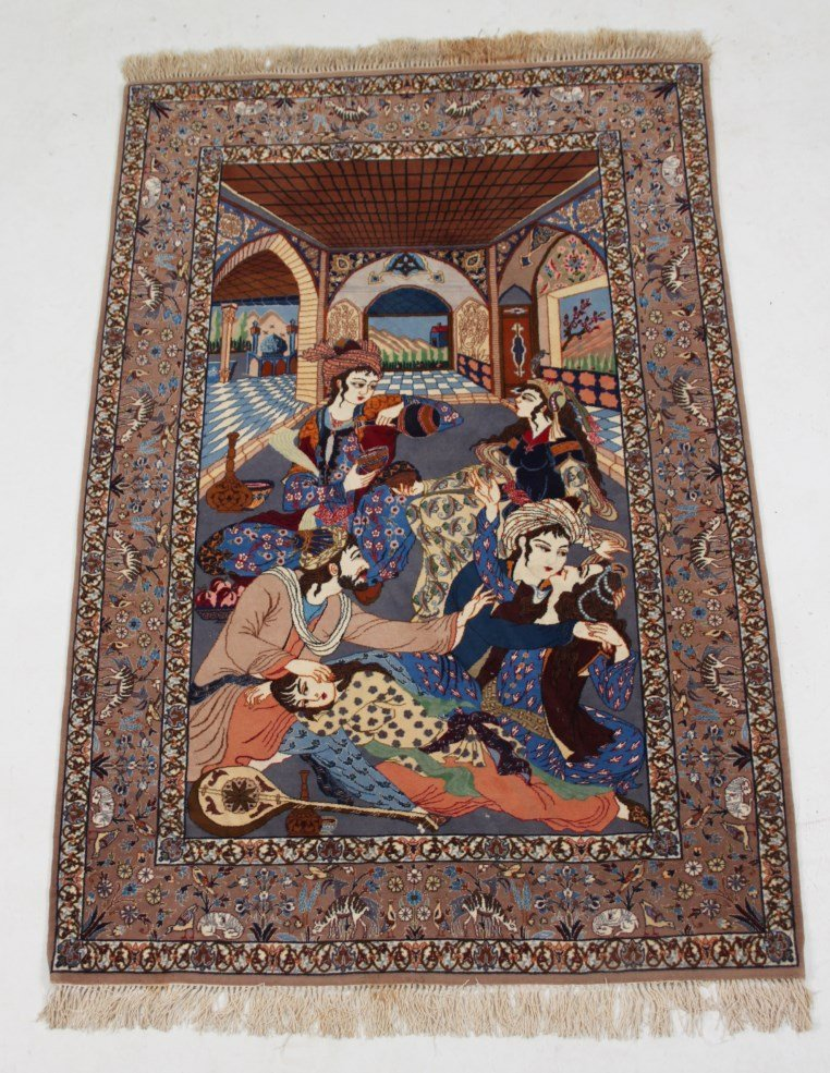 """FINELY WOVEN PERSIAN PICTURE RUG 5'10"""" X 3'7"""""""