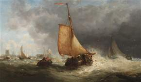 JAMES WEBB, 19TH C. OIL ON CANVAS PAINTING