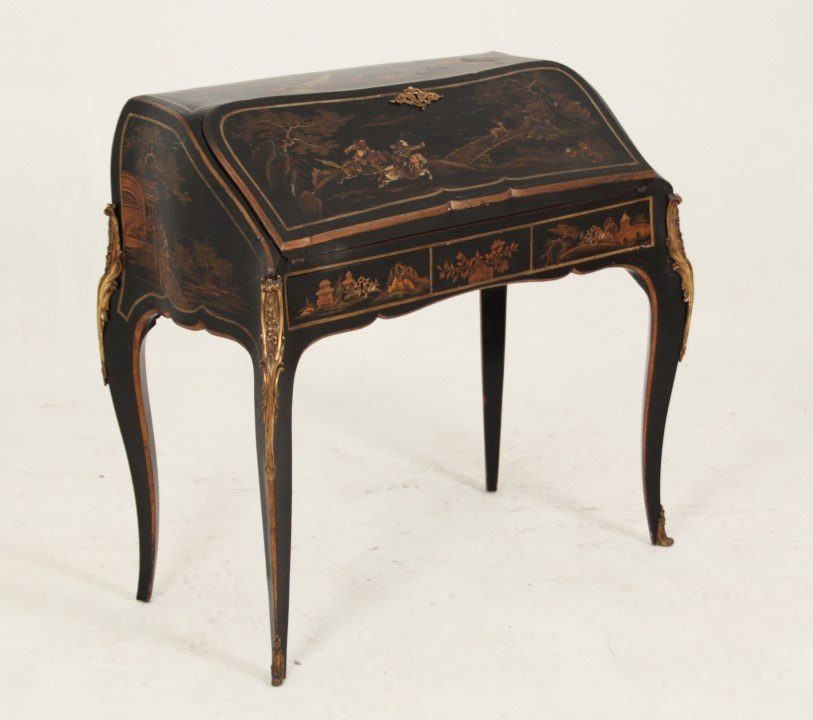 19TH C. FRENCH CHINIOSERIE LACQUERED BUREAU