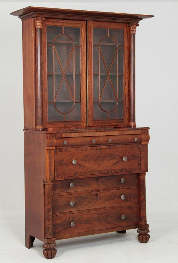 AMERICAN MAHOGANY AND CHERRY  FEDERAL SECRETAIRE