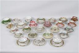 GROUP OF 25 PORCELAIN CUPS AND SAUCERS