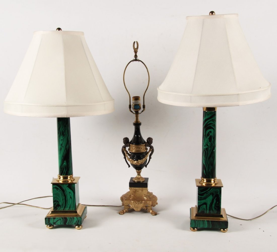 MISCELLANEOUS LOT OF 3 HIGH END DESIGNER LAMPS