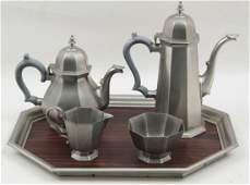 2 MISCELLANEOUS FIVE PIECE COFFEE AND TEA SERVICES