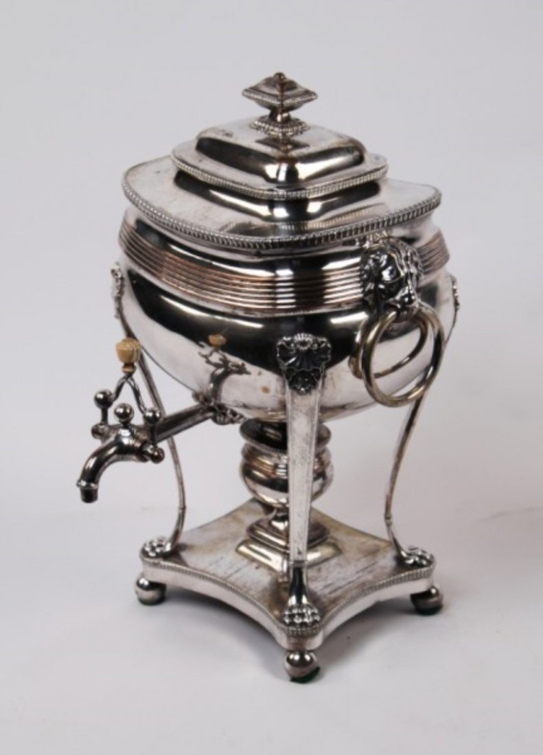 EARLY GEORGIAN SILVER SAMOVAR