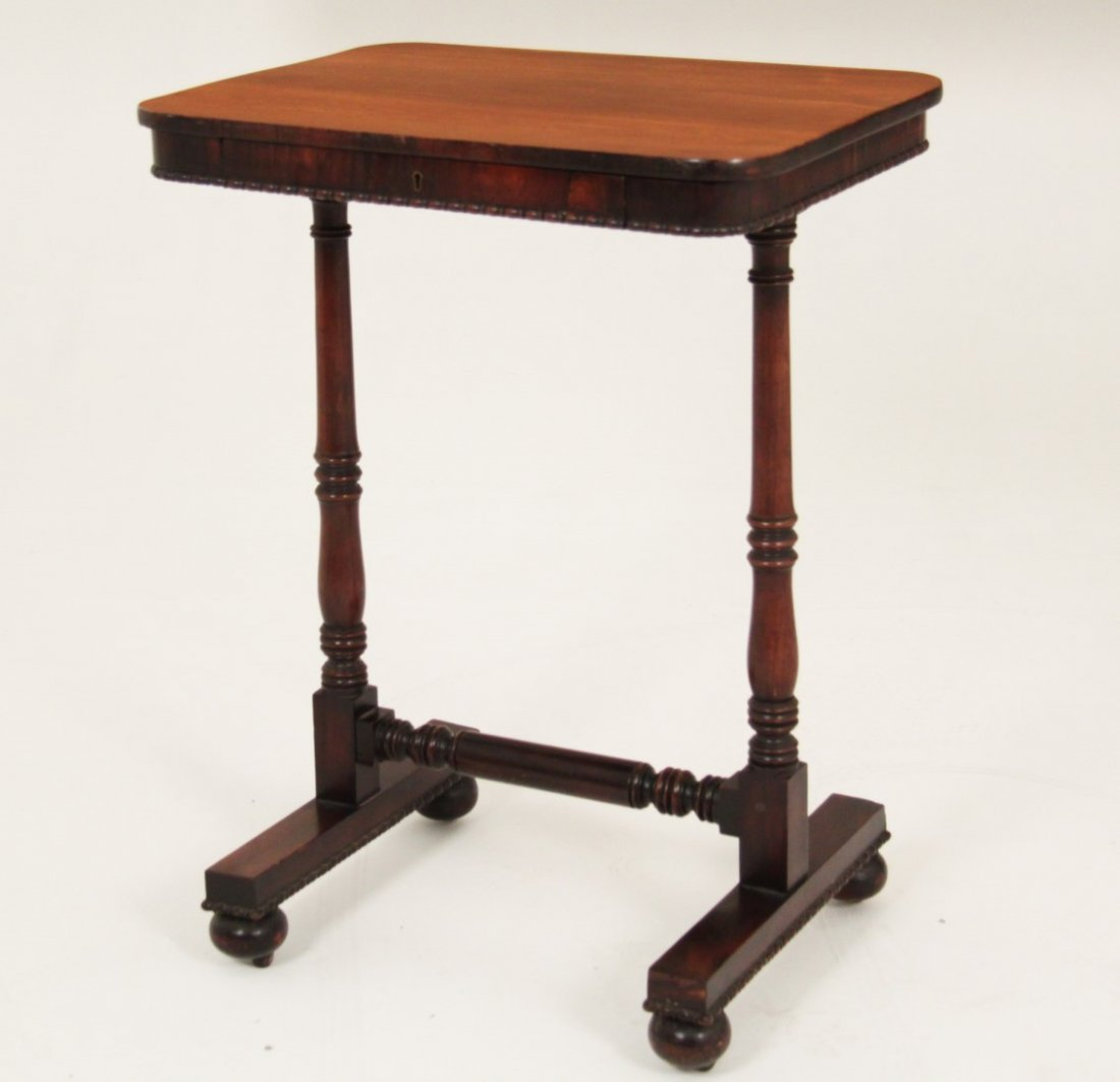 PERIOD ENGLISH REGENCY ROSEWOOD WRITING TABLE