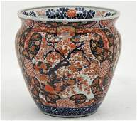 LARGE IMARI PORCELAIN FISH BOWL MEIJI PERIOD