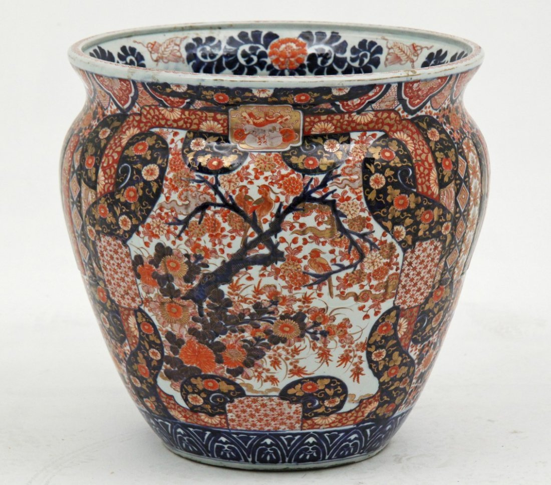 LARGE IMARI PORCELAIN FISH BOWL, MEIJI PERIOD