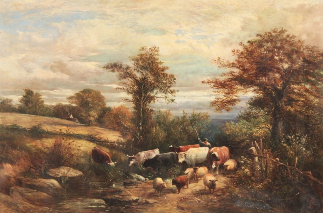 G. SHALDERS, 19TH C. OIL ON CANVAS LANDSCAPE PAINTING