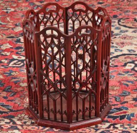 English Georgian Style Carved Mahogany Plate Rack