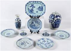 12 PIECE MISC LOT OF EARLY BLUE AND WHITE CHINESE