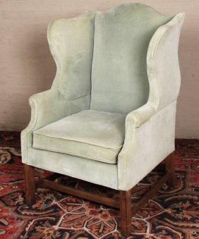 Georgian Designed Mahogany Wing Chair