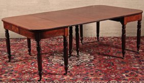 American Carved Mahogany 2 Part Banquet Table
