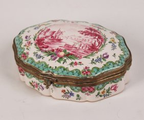 French Sceaux Glazed Faience Hinged Box