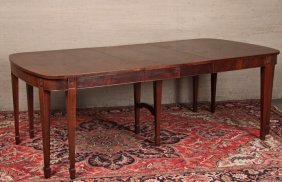 Hepplewhite Style Mahogany Dining Table