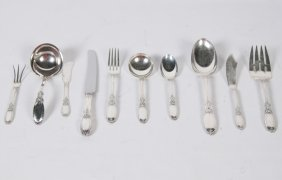 "78 Troy Ozs., 78 Pieces Of ""old Mirror"" Sterling"