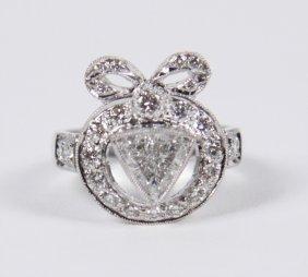 18k White Gold Brilliant Diamond Ladies Ring