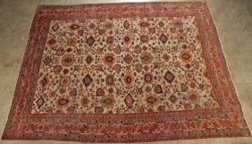 "Antique Sultanabad Rug 10'5"" X 13'8"""