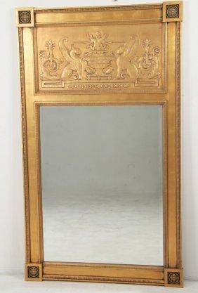 Large French Regency Style Trumeau Mirror